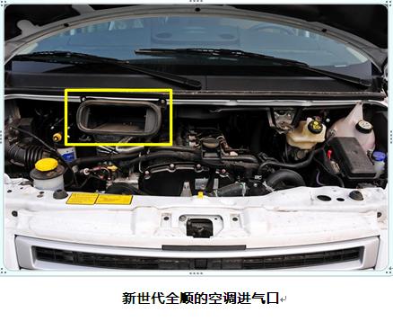 商用车中的经典全顺和新世代全顺也未在空调系统中